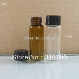 Wholesale X ml Amber Clear Empty Glass Vial With Plastic Cap CC Clear Amber Sample Vials