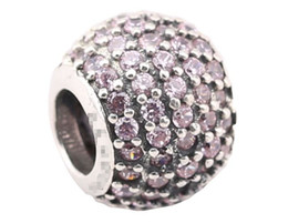 925 Sterling Silver Charms Ale Rhinestone European Charms for Pandora Bracelets Basic DIY Beads Accessories