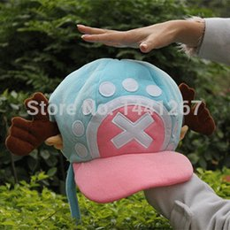 Wholesale One Piece Tony Tony Chopper Hat Cosplay Plush Pirate Hat Winter Warm Hat Classic Blue For Adults Kids