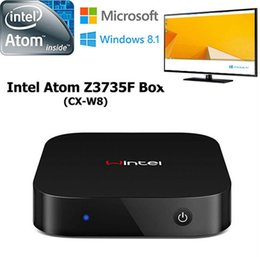 Wholesale Wintel W8 Win10 Mini PC Bit Android TV Box Dual OS GB GB Quad Core Intel Atom Z3735F TV Player Portable PC