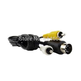 Wholesale AV RCA Audio Video TV Adapter Cable for Sega Genesis Mega Drive Master System cable av adapter