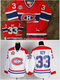 Wholesale CCM Montreal Patrick Roy Throwback Canadiens Red White Stanley Cup Vintage Heritage Nhl Ice Hockey Stitched Jerseys