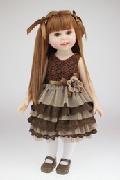 "18"" 45cm fashion very cute semi-soft vinyl American doll education toy for girls birthday Gift"