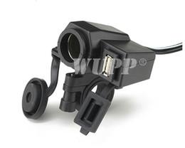 Wholesale New Motorcycle V USB Cigarette Lighter Power Port Integration Outlet Socket v usb power charge socket waterproof
