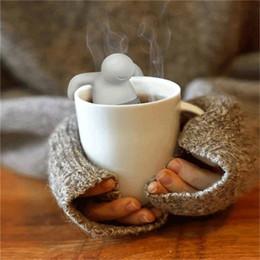 Wholesale Mr tea fred Teapot cute Mr Tea Infuser Tea Strainer Coffee Tea Sets silicone fred mr tea