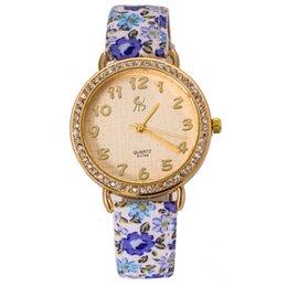 Wholesale Newest Women Wrist Watch Popular Elements Of Sweet Floral Ladies Watch Beauty Dress Hours Online cs