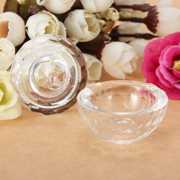 Wholesale Best Price Glass Crystal Bowl Cup Glassware Dish Arcylic Art Nail Bowl Liquid Powder Container