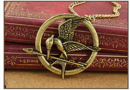 Wholesale 2016 In Stock The Hunger Games Necklaces Inspired by Jennifer Lawrence Mockingjay And Arrow Pendant Necklace Jewelry Katniss Movie
