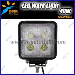 Wholesale 40W cree led off road worklight high lumen trailer lights led Fog light kit for heavy duty machinery x4 car SUV ATV light