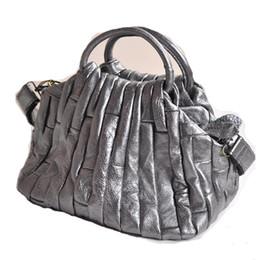 Wholesale-100% Genuine Leather Tote Bags For Women Real Sheepskin Fashion Silver Gold Patchwork Designer Crossbody Handbag CB1625