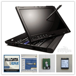Wholesale 2016 latest alldata and mitchell software laptop x200t toughbook with tb hdd ready to work for all car data
