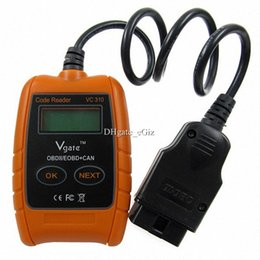 Wholesale Vgate VC310 Code Reader Cleaner OBD2 OBDII CAN EOBD Automotive Diagnostic Tool Scanner Auto Tester Airbag Repair w LCD Display