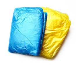 Wholesale Cheapest Price Disposable PE Raincoat Poncho Rainwear Travel Rain Coat Rain Wear gifts mixed colors