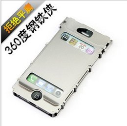 Wholesale Iron Man degrees iPhone5 mobile phone shell metal clamshell Apple generations of stainless steel shell