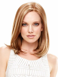 Purity Medium length hair with Straight Light Brown Bob style for women Free shipping