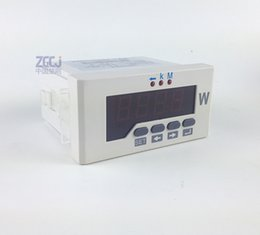 Wholesale phase watt meter active power meter digital three phase power monitor digital w meter watt panel meter