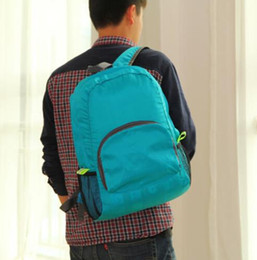 1piece The portable Zipper Soild Nylon Daily Traveling Backpacks Shoulder bags Folding bag