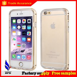 Aluminium bumper case with Soft Clear Transparent Crystal TPU cover case for Iphone 6 6+ Plus
