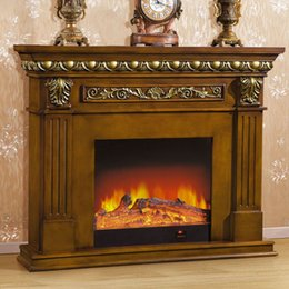 Wholesale 1 m high end European style fireplace wood engraving American decorative frame dark antique white custom House