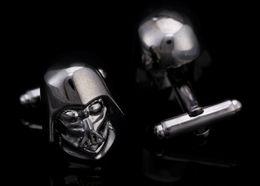 Wholesale High Quality Star Wars D Darth Vader cufflinks for mens copper cufflink wedding Cuff Link best gift for men Fashion Jewelry wish_team