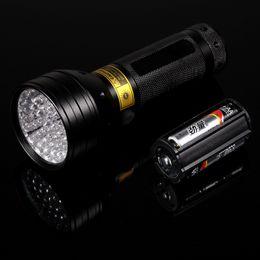 High Quailty! 51 UV Ultraviolet LED Flashlight Violet Blacklight Black Light Torch 395 nM 51LED Aluminum Shell UV Torch Mini Light