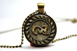 Wholesale 10PCS The Dark Tower Mark of Eld Inspired Pendant Necklace Glass Photo cabochon necklace
