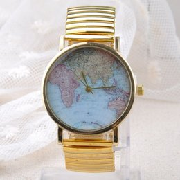 Wholesale 2016 World Map Globe Fashion Women s and Men s Quartz Watch Wrist Watches