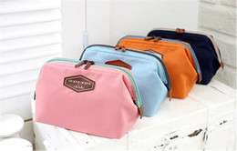 2015 Women's Makeup Cosmetic Cases Fashion Travel Kit Solid 4 Colours Organizer Bag For Lady Small Zipper Cosmetic Bags Free Shipping