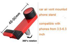 Promotion vent mount gps Universal Air Vent Phone Mount 360 degrés voiture rotative titulaire pour iPhone6 / 6s, iphone6plus, SamSung s6, HTC Huawei en gros
