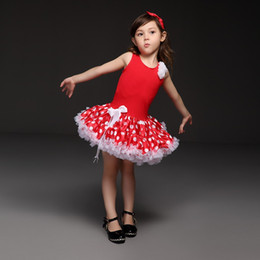 Pettigirl Hot Sale Red Baby Girls tutu Dresses Fashion Dot Pattern Princess Dress Novely And Beautiful Children Clothing TD21013-06