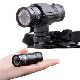 Wholesale Aluminum Mini F9 sports cameras MP HD P P waterproof sports action DV Camera video camcorder car DVR Degree wide angle F9