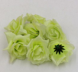 Hot ! Green Crimping Rose Flower Head Wedding Silk Flower Decoration Flower Ball Flower Arrangement