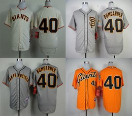 Wholesale Madison Bumgarner Cheap Baseball Jerseys San Francisco SF Giants Authentic Home Road Cream Grey Orange Cool base Jersey