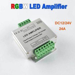 Wholesale DC V A Channels Data Repeater RGBW Color Changing Signal Amplifier for SMD LED RGBW RGB WW Strip Light Aluminum Shell