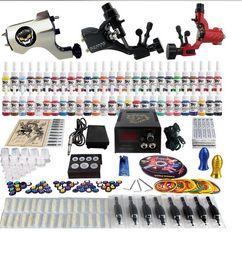 Wholesale Factory Complete Tattoo Kit Pro Rotary Machine Guns Inks Power Supply Needle Grips TK355