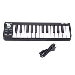 Wholesale High Quality Worlde Easykey Portable Velocity sensitive Keyboard Mini Durable Key USB MIDI Controller I1432