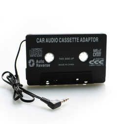 Wholesale Car Amplifier Wholesale - Audio Aux Car Cassette Tape Adapter Converter 3.5mm MP3 Player for iphone for ipod MP3 MP4 Android Phone