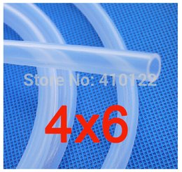 Wholesale 4x6mm Thin Silicone Rubber Tube Medical Use FDA Silicone Pipe Garden Hose Reels