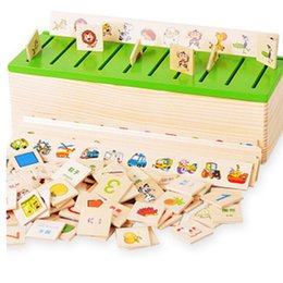 Wholesale Montessori Knowledge Classification Box Wooden Toys Educational Early Learning Toys Number and Animal Blocks