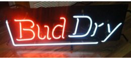 Wholesale VINTAGE BUD DRY NEON VERTICAL SIGN IN VERY GOOD CONDITION RARE Avize Nikke Air Jordann Sign Buddweiser Advertising Sign Log Sign quot X9 quot