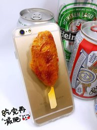 Wholesale 2016 new arrival barbecue series roast chicken corn shrimp phone cases for iPhone mobile phone pc phone cover