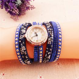 Wholesale Crazy Digital Watch Hot Buy Korean Fashion New Dress Retro Ladies Bracelet Watches Woman Casual Knit Long Leather Rhinestone Quartz Watch