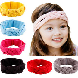 baby girl Headbands Bandanas kids toddler infant Knitting cross Knot headband Turban hairband headwear hair jewelry children Christmas gift