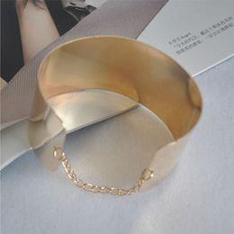 Wholesale Brazalete de cadena de espejo K chapado en oro pulsera de rodio pulsera de moda coreana boutique pulsera lisa al por mayor regalo de San Valentín