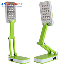 Multifunction Foldable Led Desk Lamp Rechargeable Table LED Light With 24 LED Bulbs