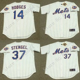 Wholesale Cheap GIL HODGES CASEY STENGEL New York Mets Throwback Home Baseball Jersey throwback Baseball Jersey stitched S XL