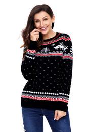 Fashion Women's Long Sleeve Christmas Reindeer Knit Sweater Winter Jumper