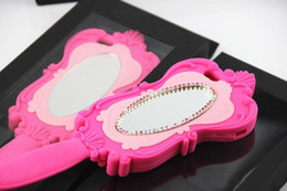 La caja del GEL de Bling del diamante mágico del espejo cosmético 3D Magic Barbie Girl Pink muñeca hermosa suave de silicona para el iPhone envío de la gota desde iphone bling la rosa fabricantes