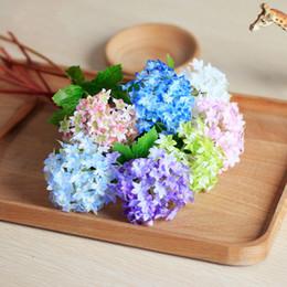 10pcs decorative Artificial Silk hydrangea Flower Arrangement Room Hydrangea For Party Wedding Decoration fleur artificielle