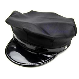 Wholesale Octagon Yacht Skipper Captain Sailor Boat Police Sheriff Hat Cap Party Costume PY